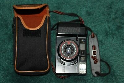 Vintage Canon Sure Shot  Self Timer Pre-Focus  35mm Camera  With Case