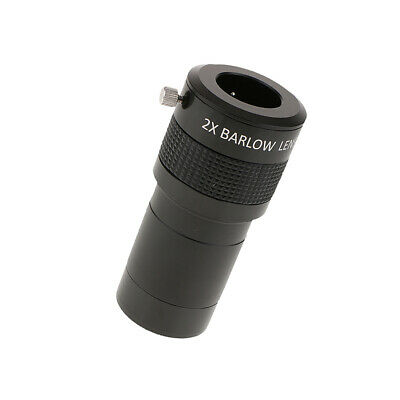 "Fully Coated 2 inch ED 2x Barlow Lens for Telescope + 2"" to 1.25"" Adapter"