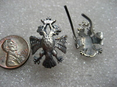 Russian Imperial State Serviceman Emblem Pin Eagle,set