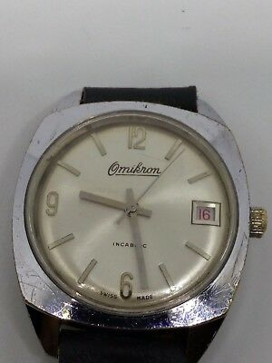 Omikron Vintage Art Deco Swiss watch, circa 1980, Men's, Luxury, 100% genuine