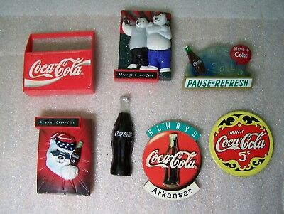 Coca Cola Magnets Set Of 7