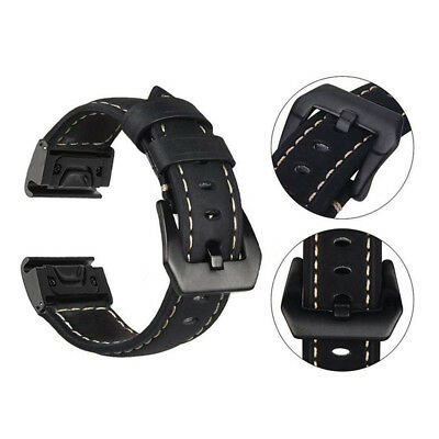 Quick Release Genuine Luxury Leather Strap Bracelet For Garmin Fenix 5 /Fenix 5X