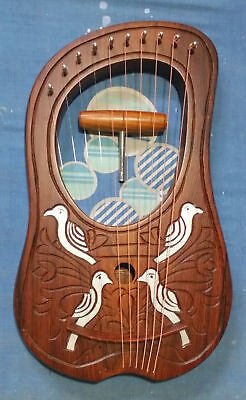 Lyre Harp 10 Strings Rosewood  With Tuning key and Bag Plus Extra string Set