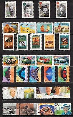 10 Sets Of Australian Stamps  All Different  Used ( Refer To Scan )