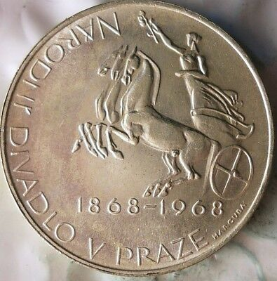 1968 CZECHOSLOVAKIA 10 KORUN - AU/UNC - Uncommon Silver Crown Coin - Lot #912