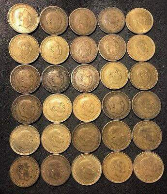 Old Spain Coin Lot - 1947-1966 - 30 Franco Pesetas - Great Coins - Lot #912