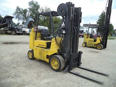 Hyster Model S80XLBCS, 8,000#, 8000# Cushion Tired Forklift, LPG Powered
