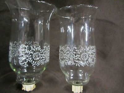 Home Interior Large Tall Floral Clear Votive Cups Set Of 2