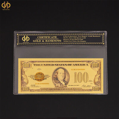 1928 US Gold Banknote $100 Dollar Set PVC Note Uncirculated Collection Banknote