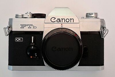 Canon FTb 35mm camera / Canon FD 1:1.8/50 mm SC Lens & manual. Made in Japan.