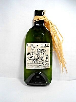 Bulldog Collectible: Flat Melted Glass Wine Bottle From Bully Hill Vineyards