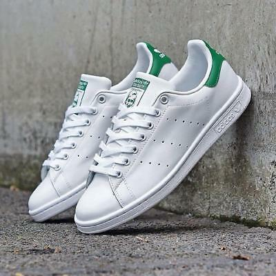 Scarpe Stan Smith Adidas Uomo Bianco Verde Sneakers White Green
