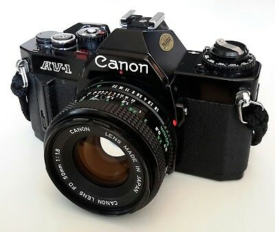 Canon AV-1 35mm camera with Canon FD 1:1.8/50 mm Lens