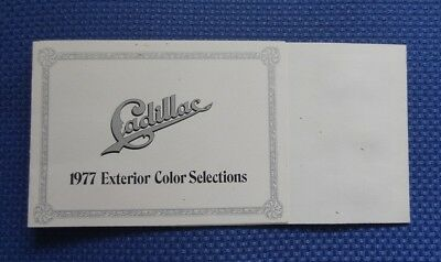 1977 CADILLAC Exterior Paint Colors Brochure - GM ISSUED