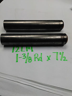 "12L14 Steel Round Rod, 1-3/8 Rd x 7-1/2"" long (2 Pieces)"
