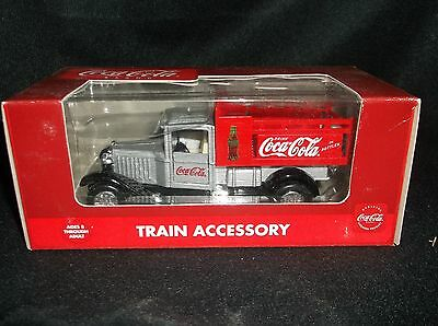 Coca-Cola Train Accessory - Silver & Red Delivery Truck