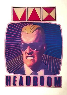 80's Max Headroom Michael Jackson Pepsi maximum back future VTG T-shirt iron-on