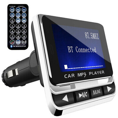 Wireless Car Bluetooth FM Transmitter with USB Charger Hands-Free Call