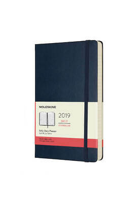 Moleskine 2019 Hard Cover Daily Diary - Large (13x21cm) - Sapphire Blue