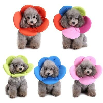 Pet Dog Cat Flower Elizabethan Collar Soft E-Collar Remedy Wound Recovery US