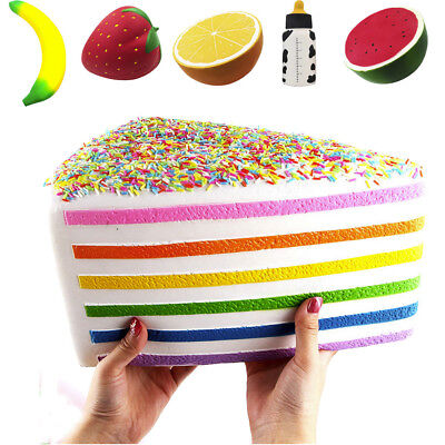 Big Super Jumbo Squishy Fruit Scented Slow Rising Squeeze Stress Relief Toy Lot