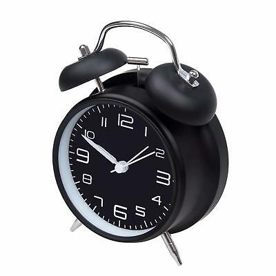 """Jiemei 4"""" Twin Bell Alarm Clock Battery Operated with Stereoscopic Dial Display"""