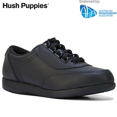 HUSH PUPPIES Classic Walker Women's Shoes Comfortable Leather - Black