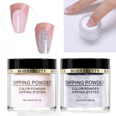 2Bottles BORN PRETTY Dipping Glitter Powder Acrylic Glitter Nude Dust Nail Decor