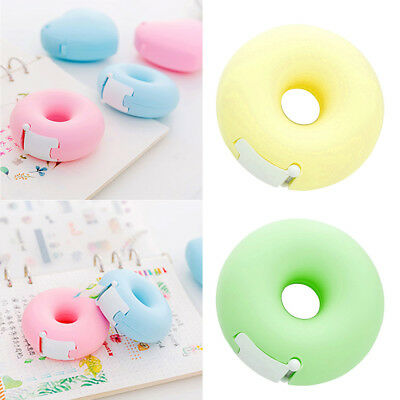 Portable Mini Multi-Colored Donut Tape Dispenser Adhesive Tape Holder Stationery