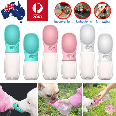 350/550ml Dog Cat Pet Water Bottle Drinking Travel Outdoor Portable Cup Feeder
