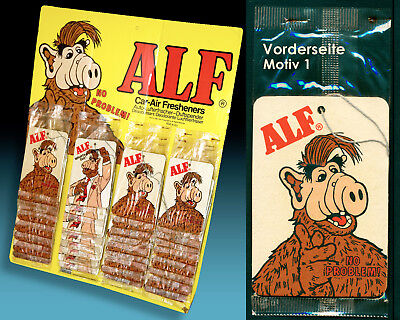 Alf | 36 Auto Lufterfrischer Kompl. Display 1988 Alf Vintage Car Air Freshener