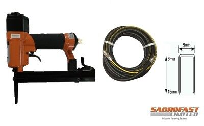 Long Nose Air Stapler By Sacrofast Sf7116Ln For Upholstery With 10M Air Hose