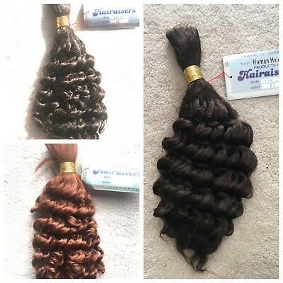 100% HUMAN HAIR FRENCH BULK - 14 and 18 inches- Made by HAIRAISERS
