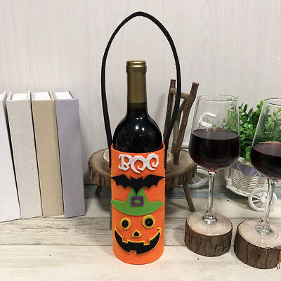 Lovely Wine Bottle Cover Halloween Red Wine Bottle Tote Bags Party Supplies