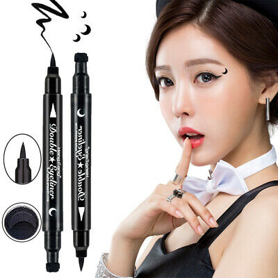 "1pc women ""HengFang"" Dual-ended Waterproof Eyeliner Pen with Tattoo Stamp Seal"