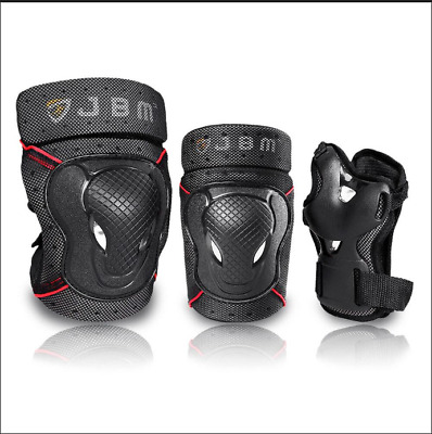 BMX Bike Knee Pads and Elbow Pads with Wrist Guards Protective Gear for Adult