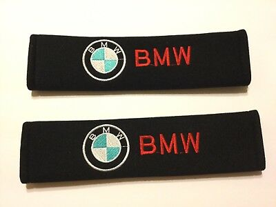 BMW Logo   Seat Belt Covers Shoulder Pads Fit For Any BMW Set for 2  New