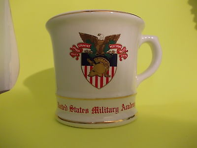 Cup Coffee Advertising U.S.M.A. West Point Gold Trim USA
