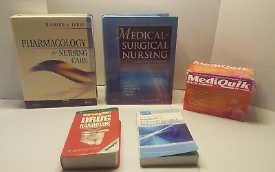 Medical Surgical Nursing 8th Edition Hardcover.  pharmacology, handbook lot 5pc