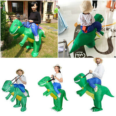 Inflatable Dinosaur Riding Suit Adult Kids Cosplay Costume Child Fancy Dress UK