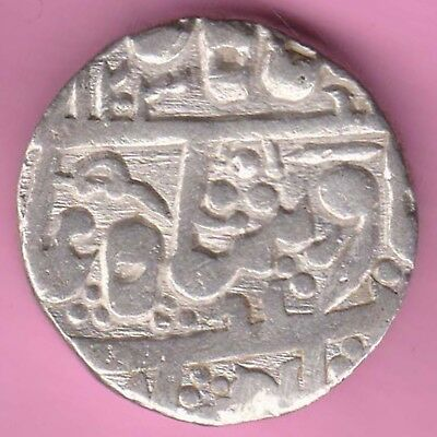 Jodhpur State-Ah:1203-One Rupee-Rarest Beautiful Silver Coin-58