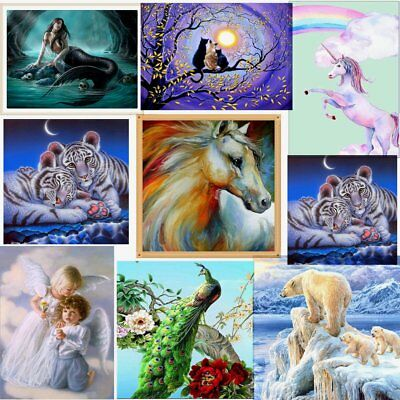 DIY 5D Diamond Wall Painting Rhinestone Embroidery Multicolor Cross Craft Stitch