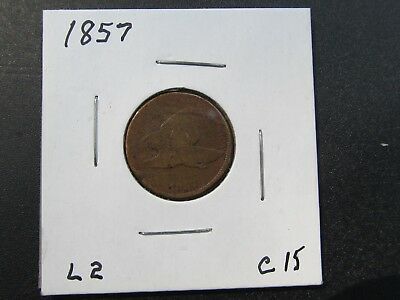 1857 Philadelphia Mint Flying Eagle Cent Ungraded You Grade.