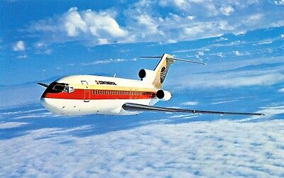Continental Airlines Boeing 727 TRIJET  Airplane Postcard