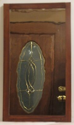 Antique Mahogany Mercury Glass Mirror Door from  Store Display Case -Wall Mirror