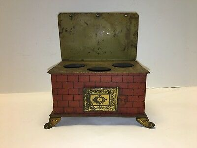 Vintage Antique Toy Tin Stove - Late 19th to Early 20th Century - Free Shipping