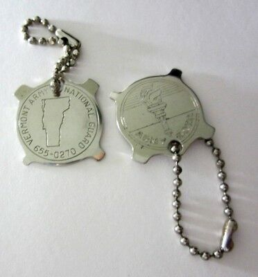 - Vermont ARMY National Guard & ARMY R.O.T.C. - 2 Pocket Screwdrivers Keychains