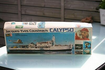"""Schiffsmodell der """" CALYPSO - JACQUES-YVES COUSTEAUS"""" von 1977 REVELL in OVP"""