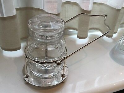 Superb Antique Henry Wilkinson Silver Plated And Glass Preserve/pickle Jar