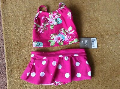 Next pink floral tankini age 6-9 months BNWT